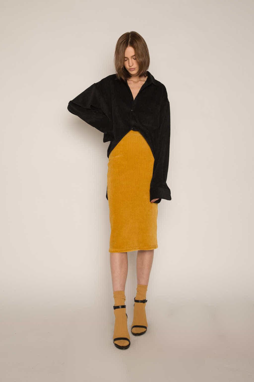 Skirt H165 Mustard 1