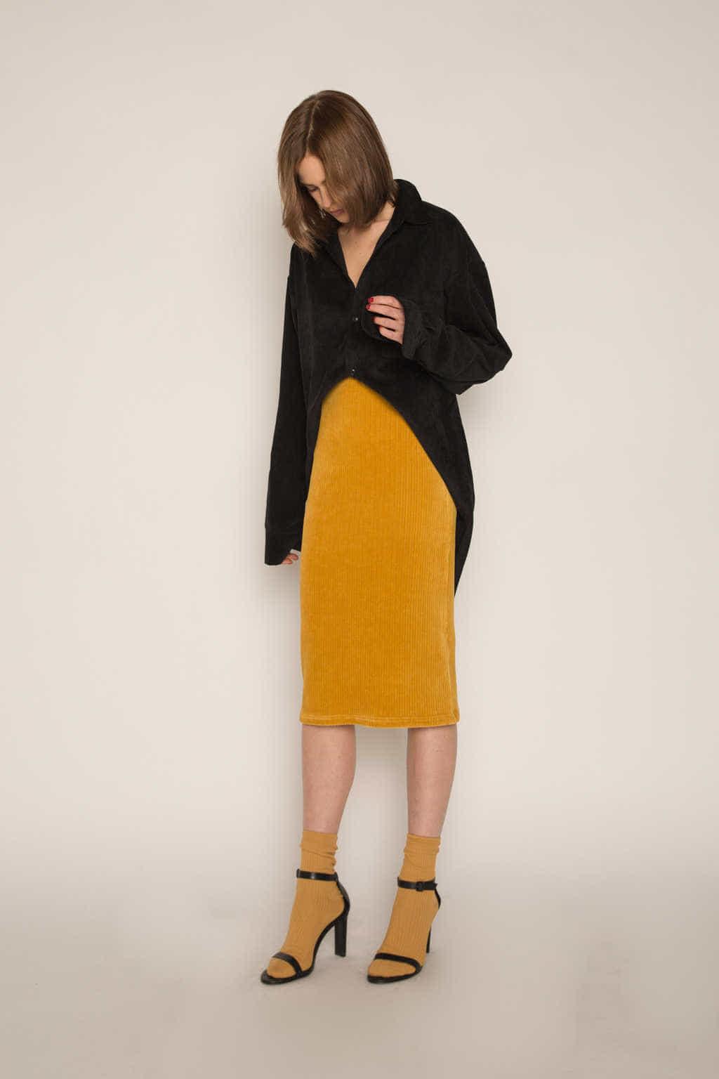 Skirt H165 Mustard 2