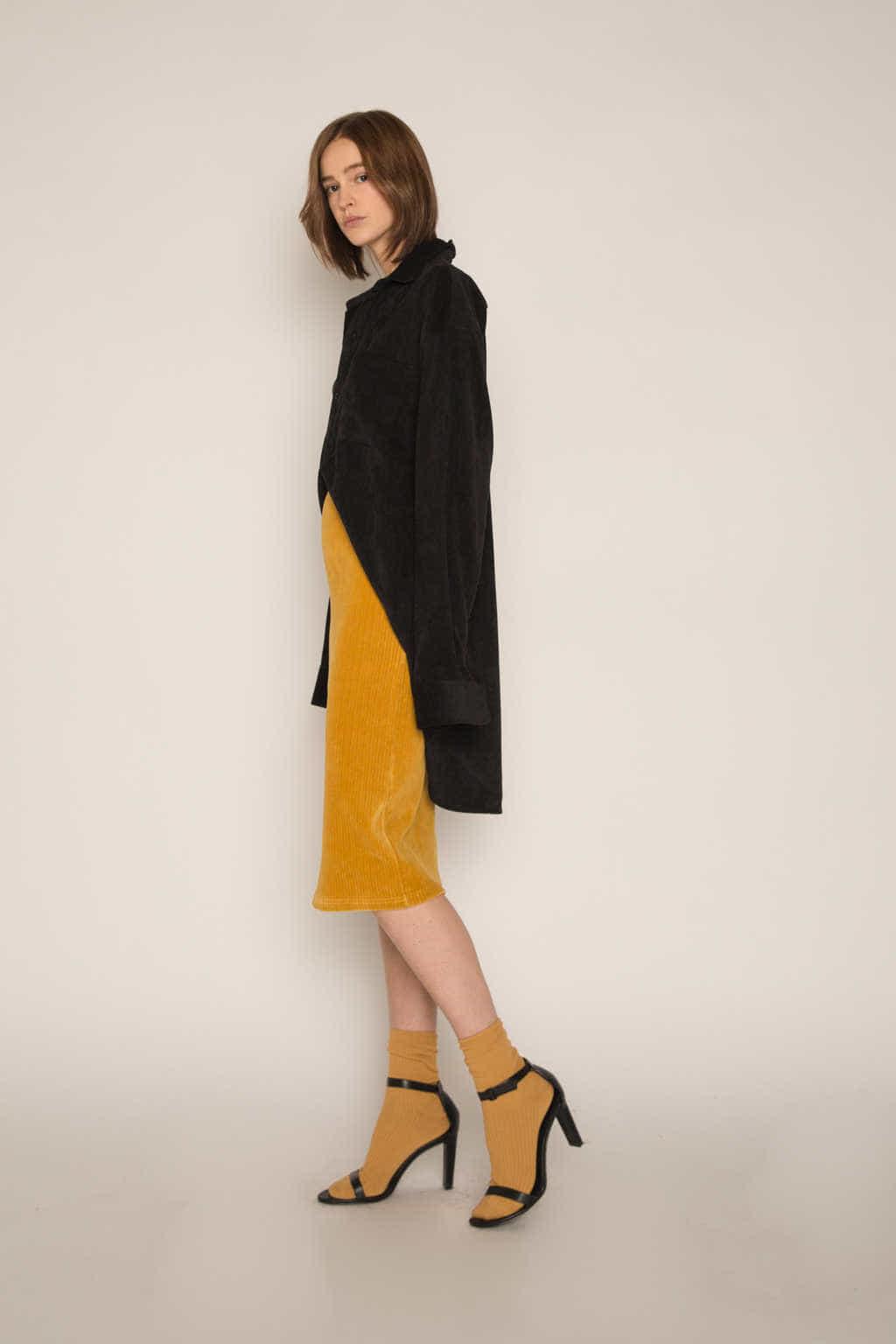 Skirt H165 Mustard 4