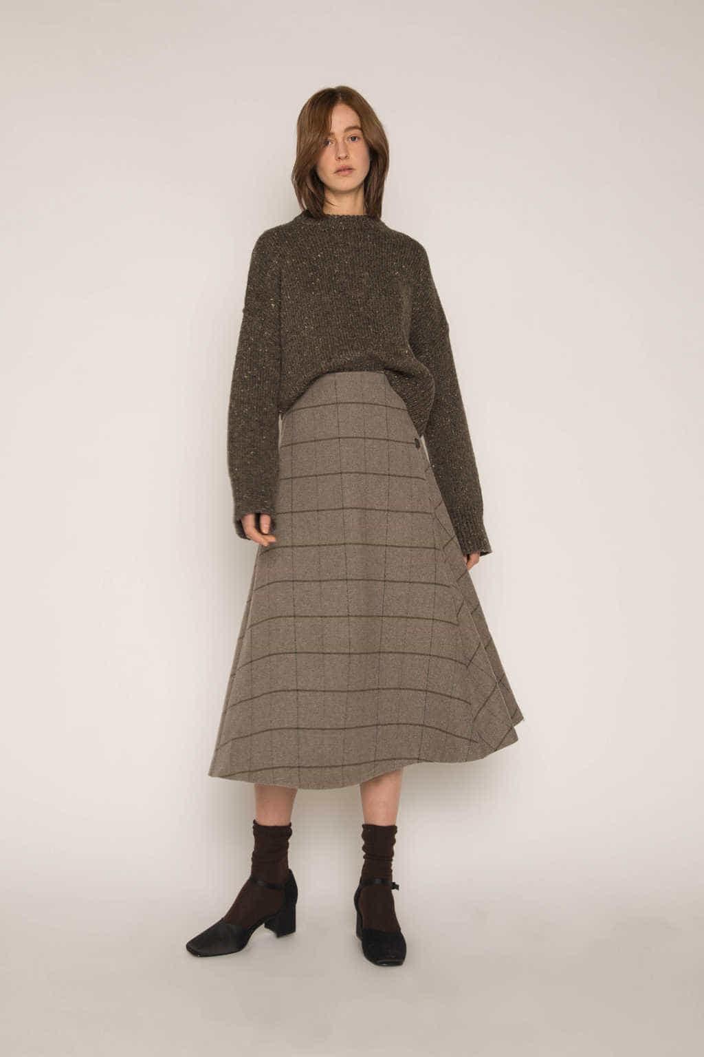 Skirt H176 Gray 1