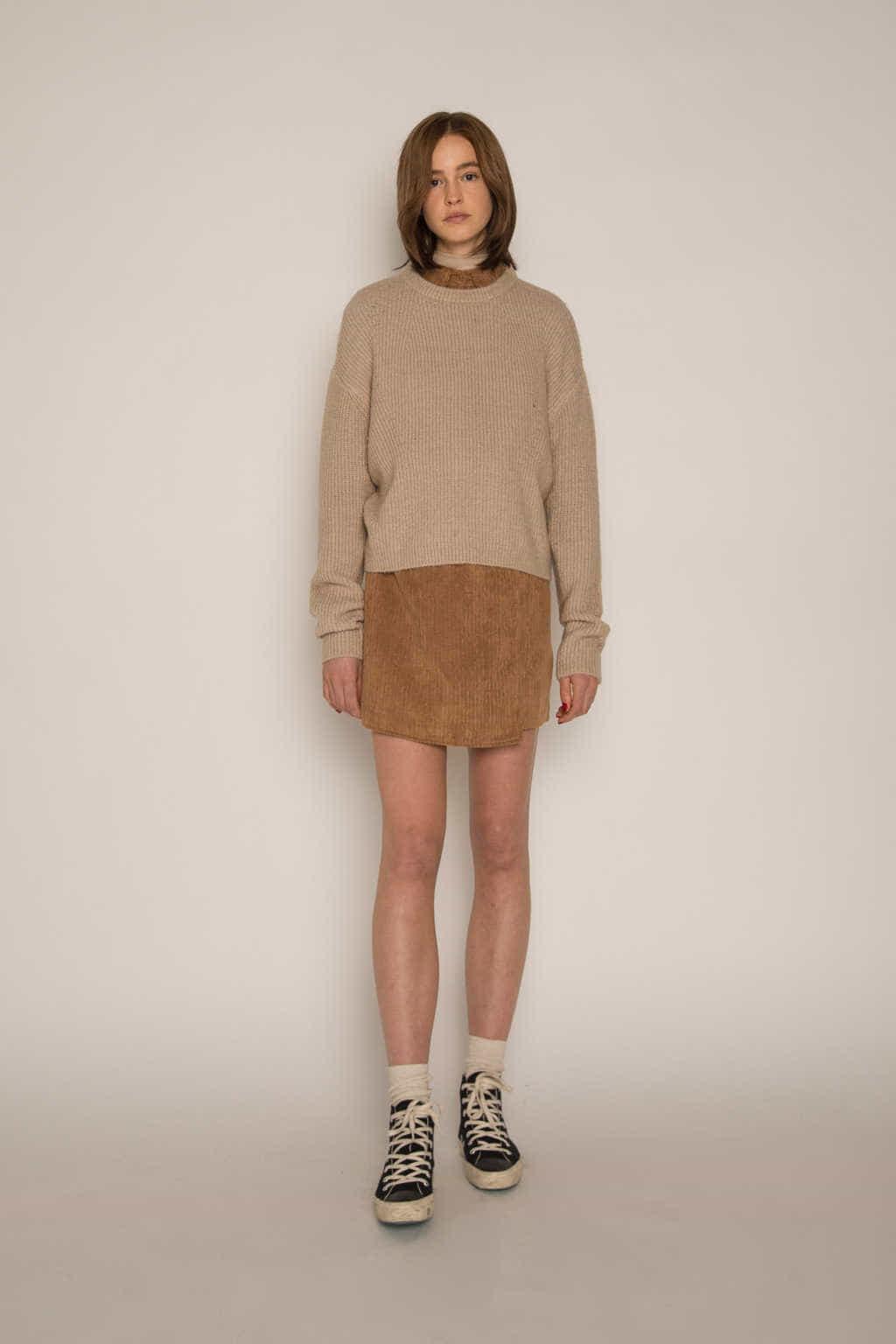 Skirt H186 Brown 3