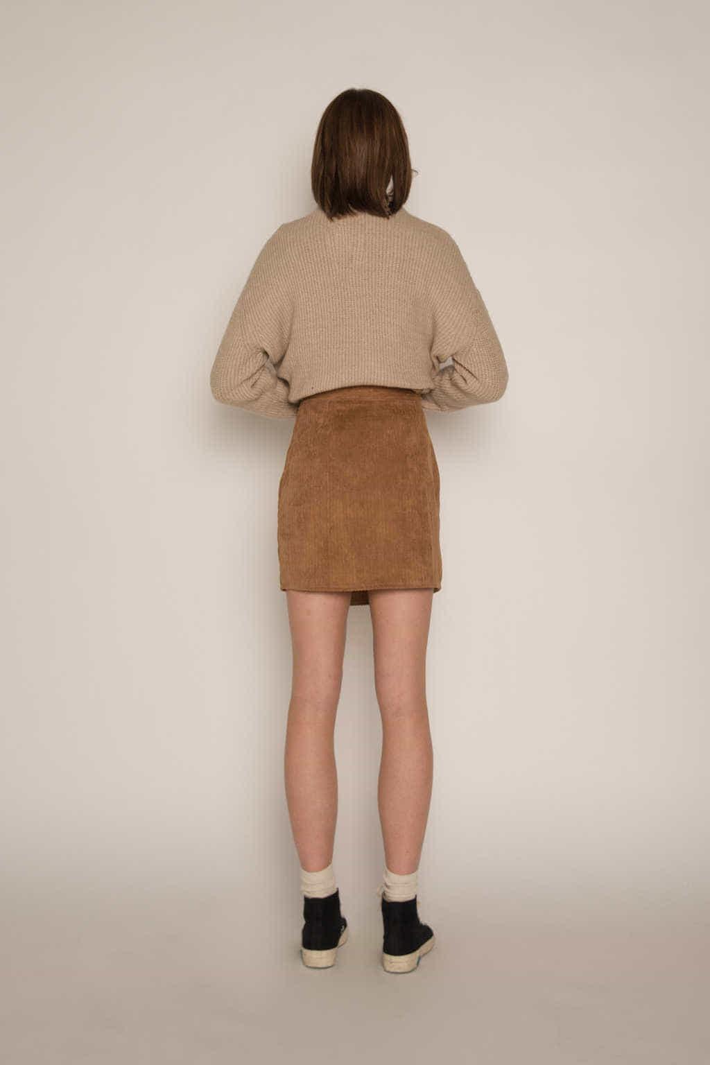 Skirt H186 Brown 4