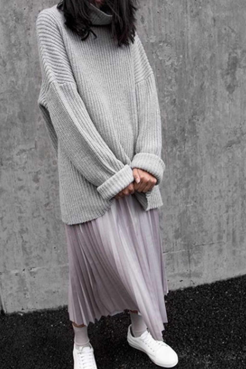 Sweater 7237 Light Gray 1