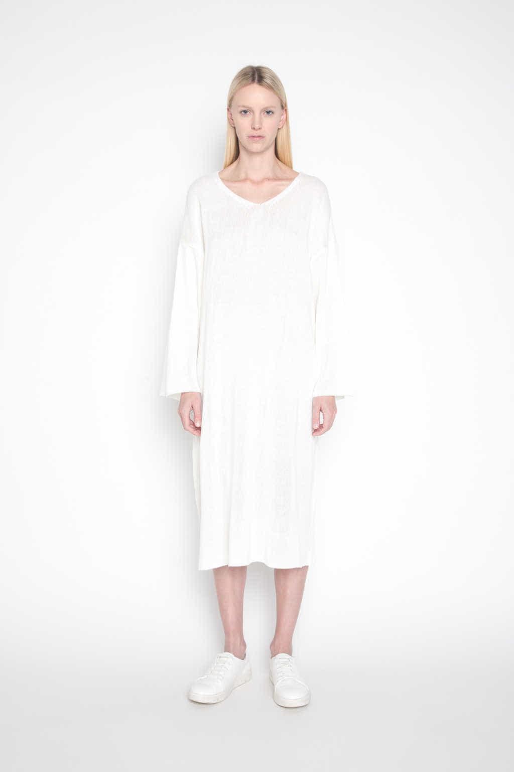 Sweater Dress H003 Cream 1