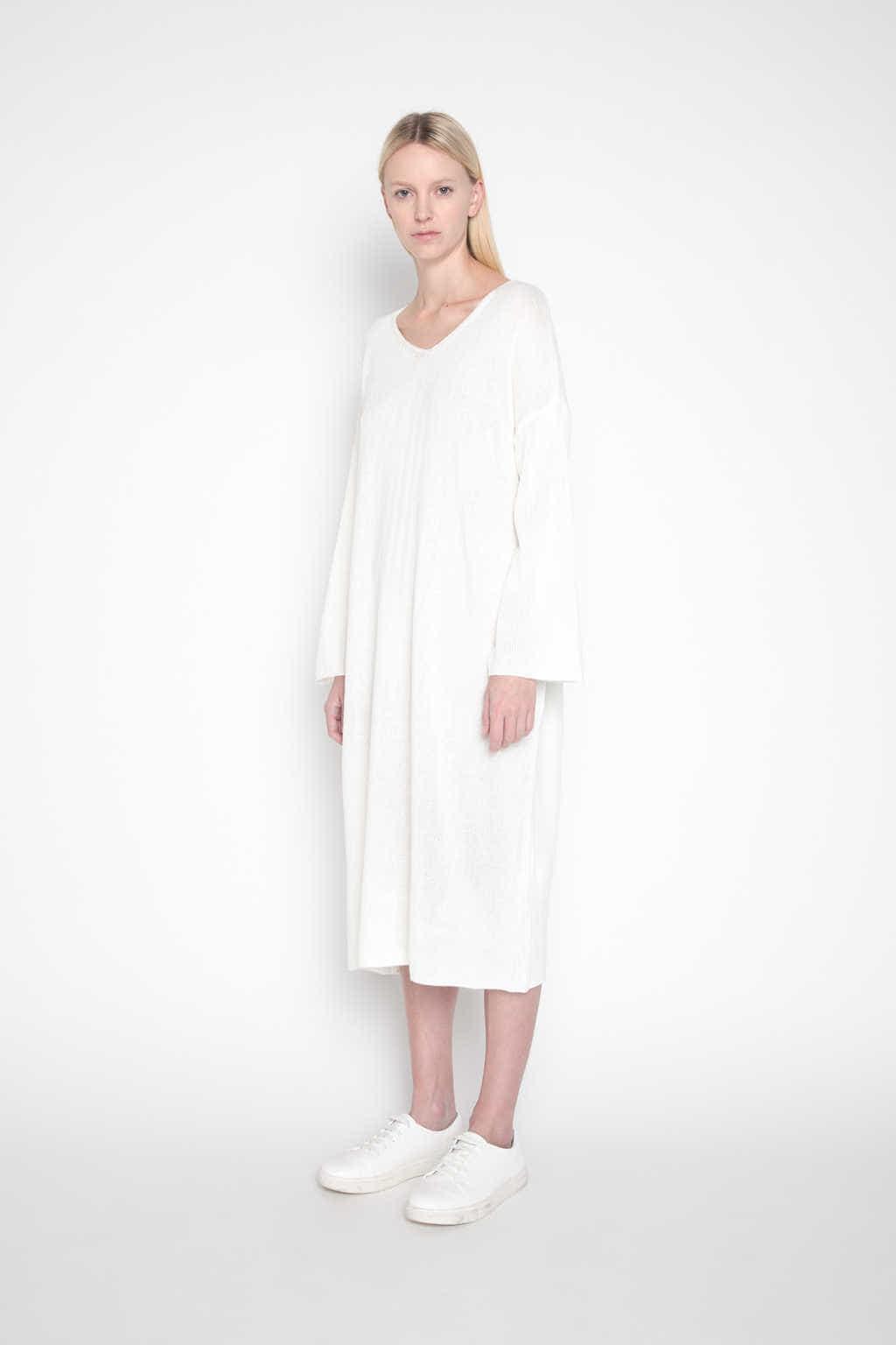 Sweater Dress H003 Cream 3