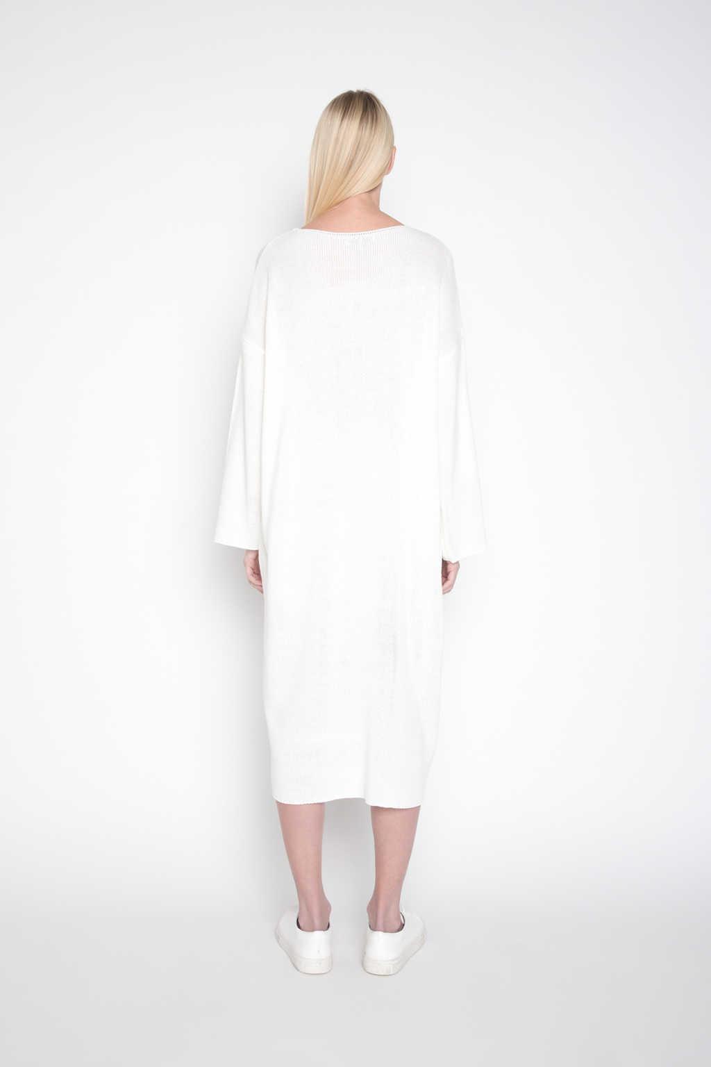 Sweater Dress H003 Cream 4