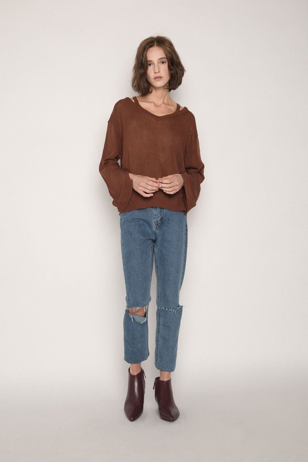 Sweater H012 Brown 2