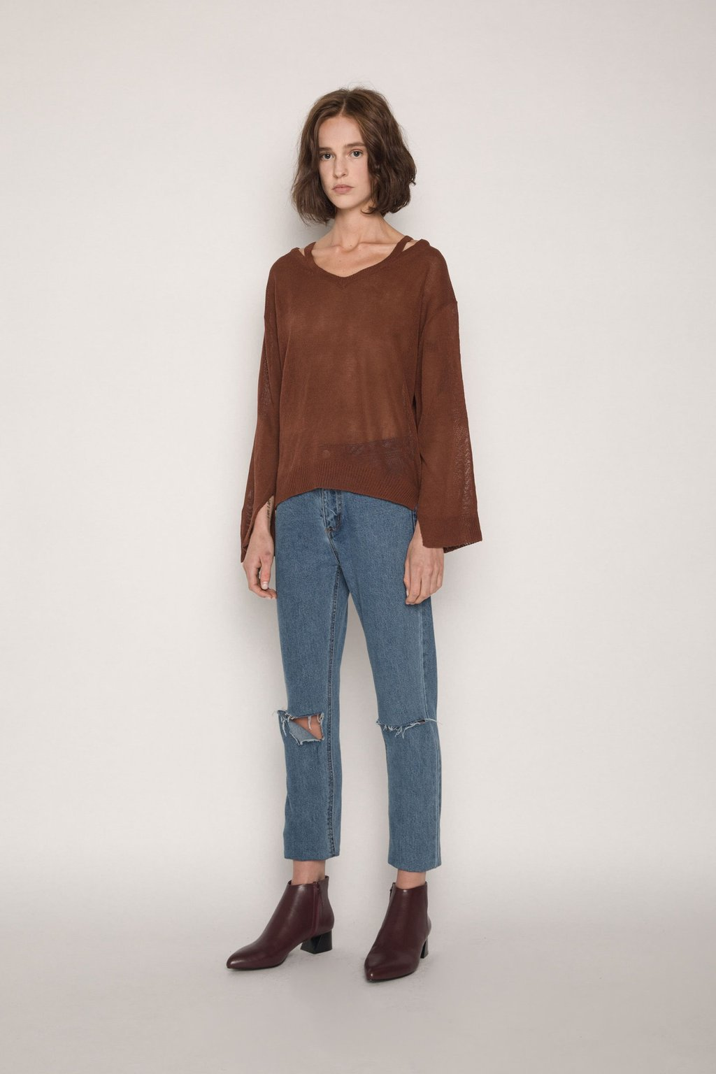 Sweater H012 Brown 3