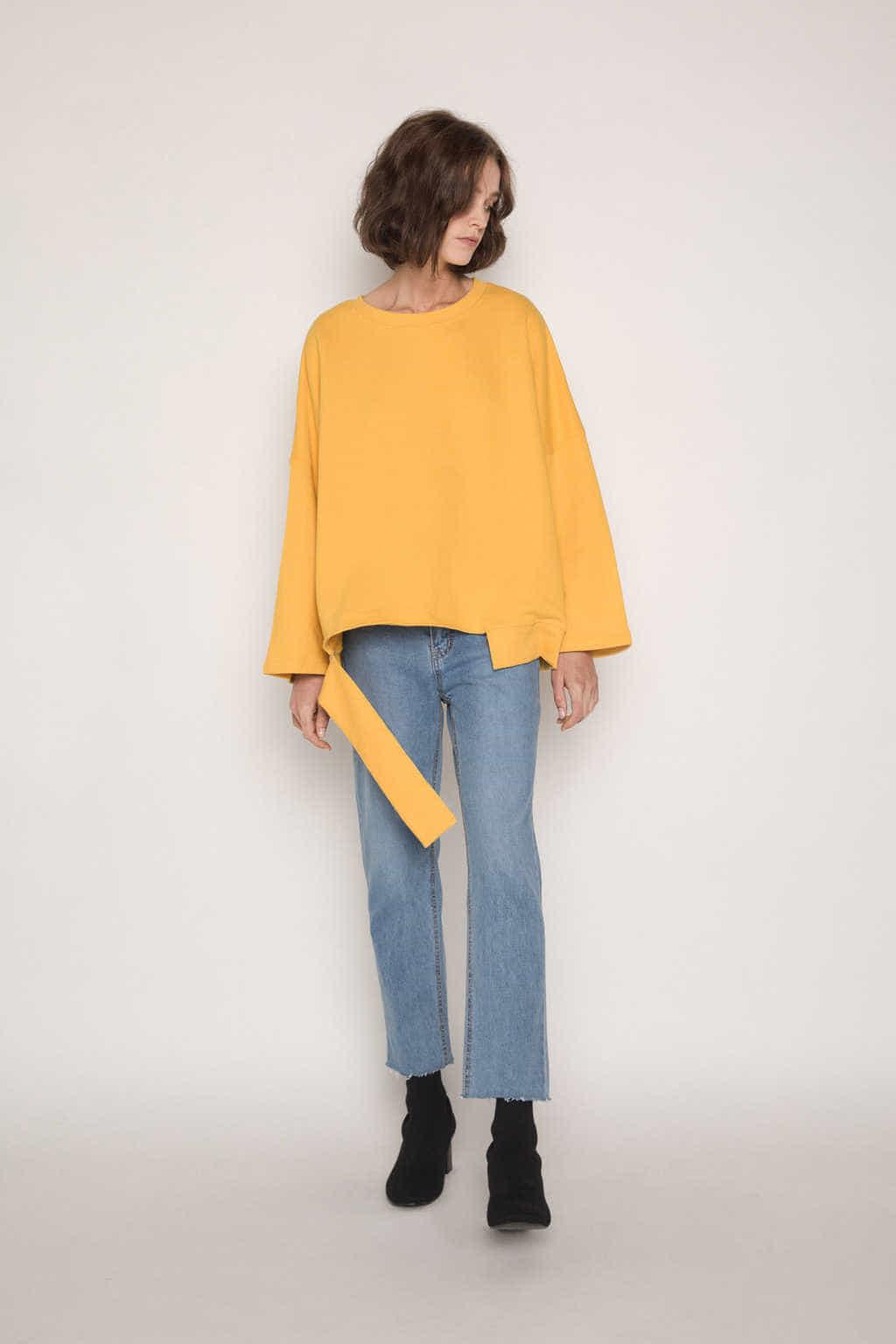 Sweater H054 Mustard 1