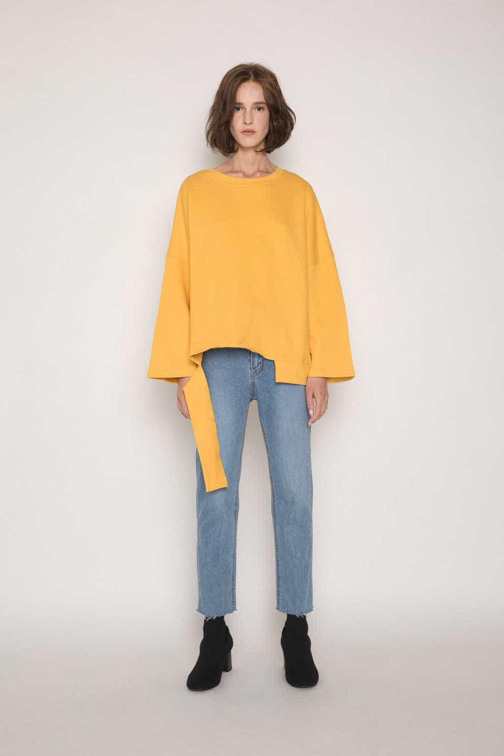 Sweater H054 Mustard 2