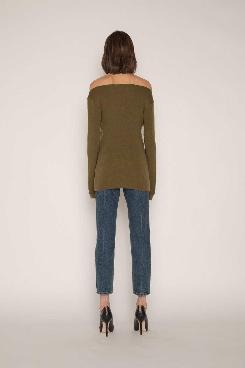Sweater H059 Olive 4