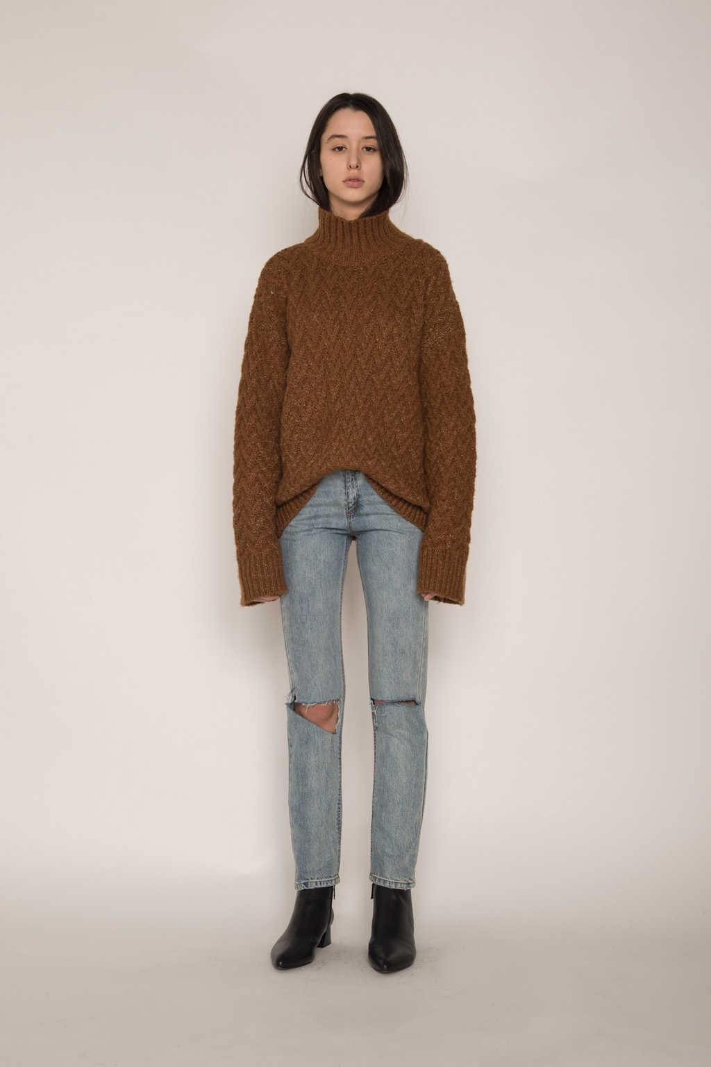 Sweater H072 Brown 2