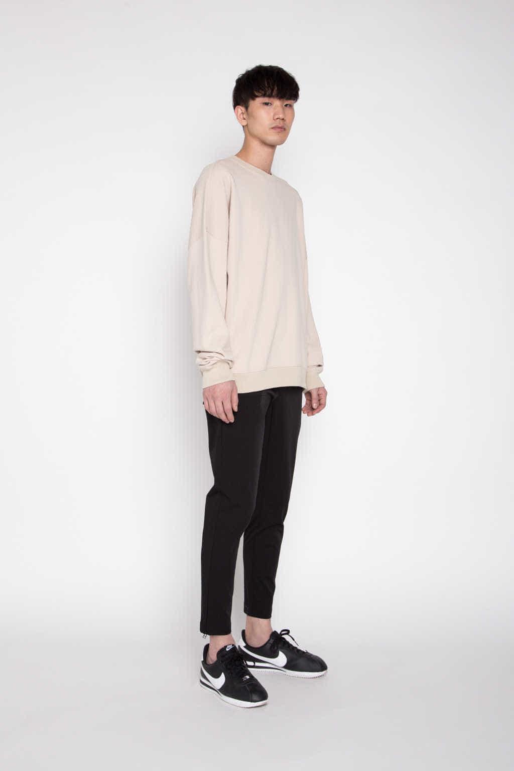 Sweatshirt 1123 Beige 4