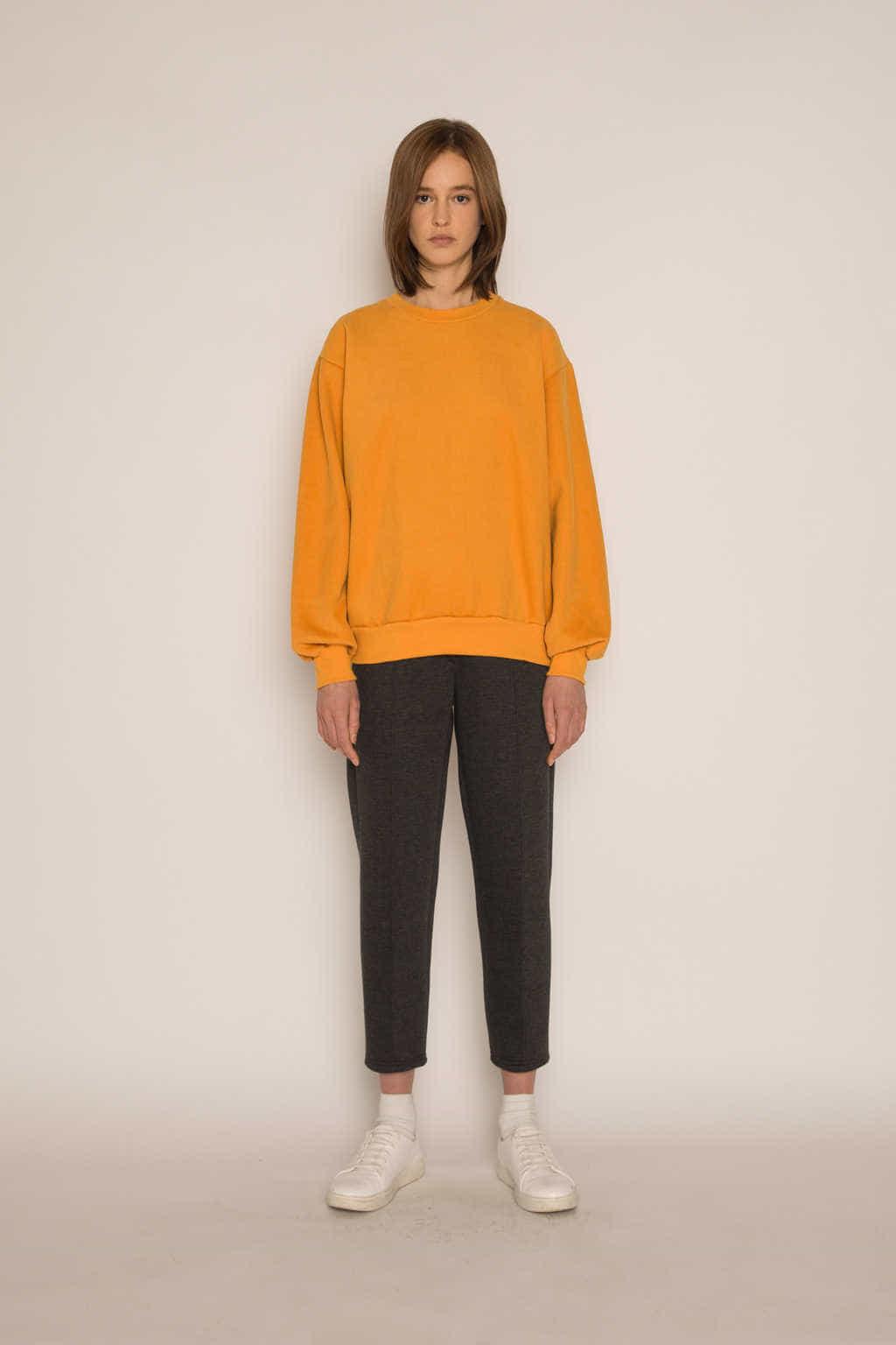 Sweatshirt H479 Mustard 1