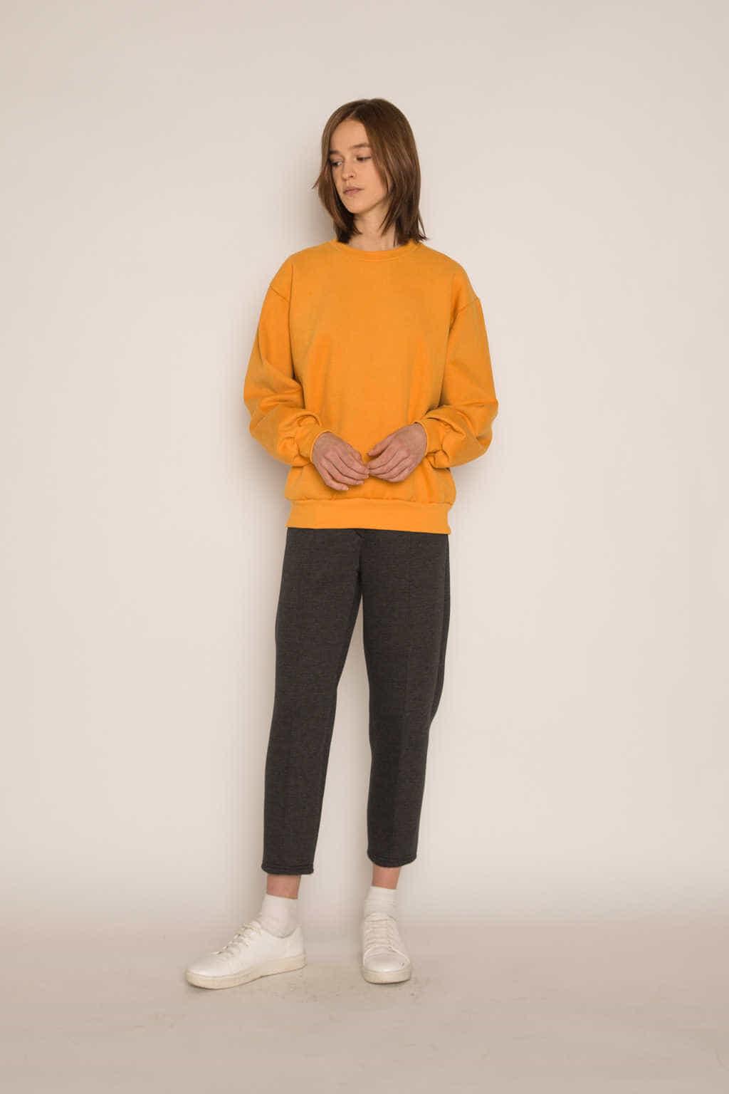Sweatshirt H479 Mustard 3