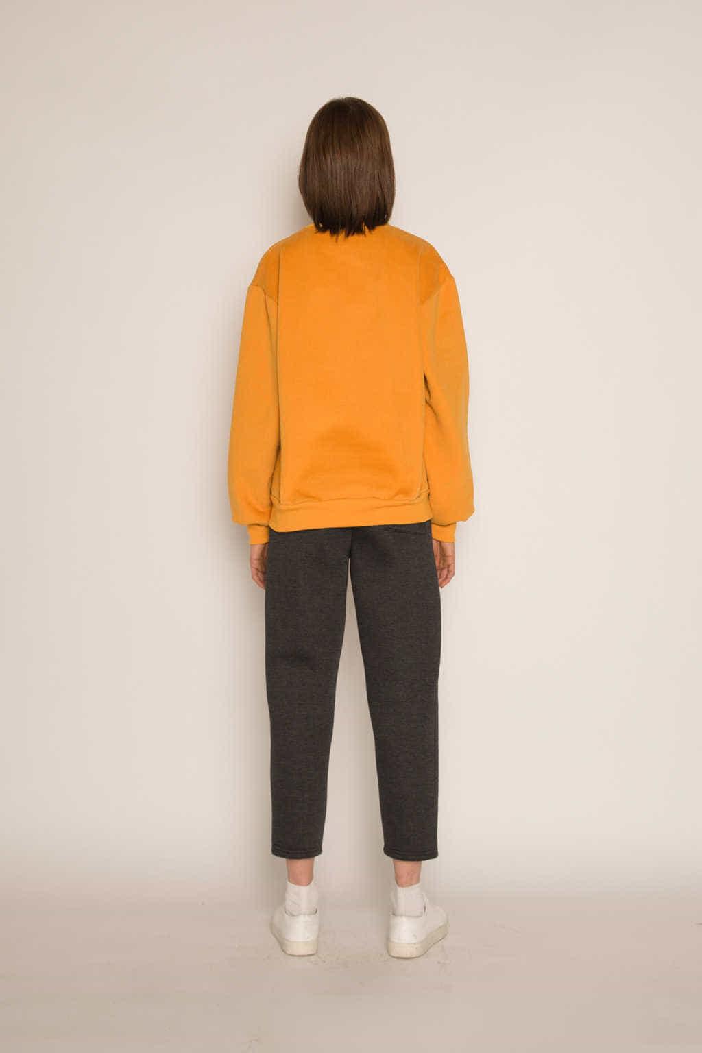Sweatshirt H479 Mustard 4
