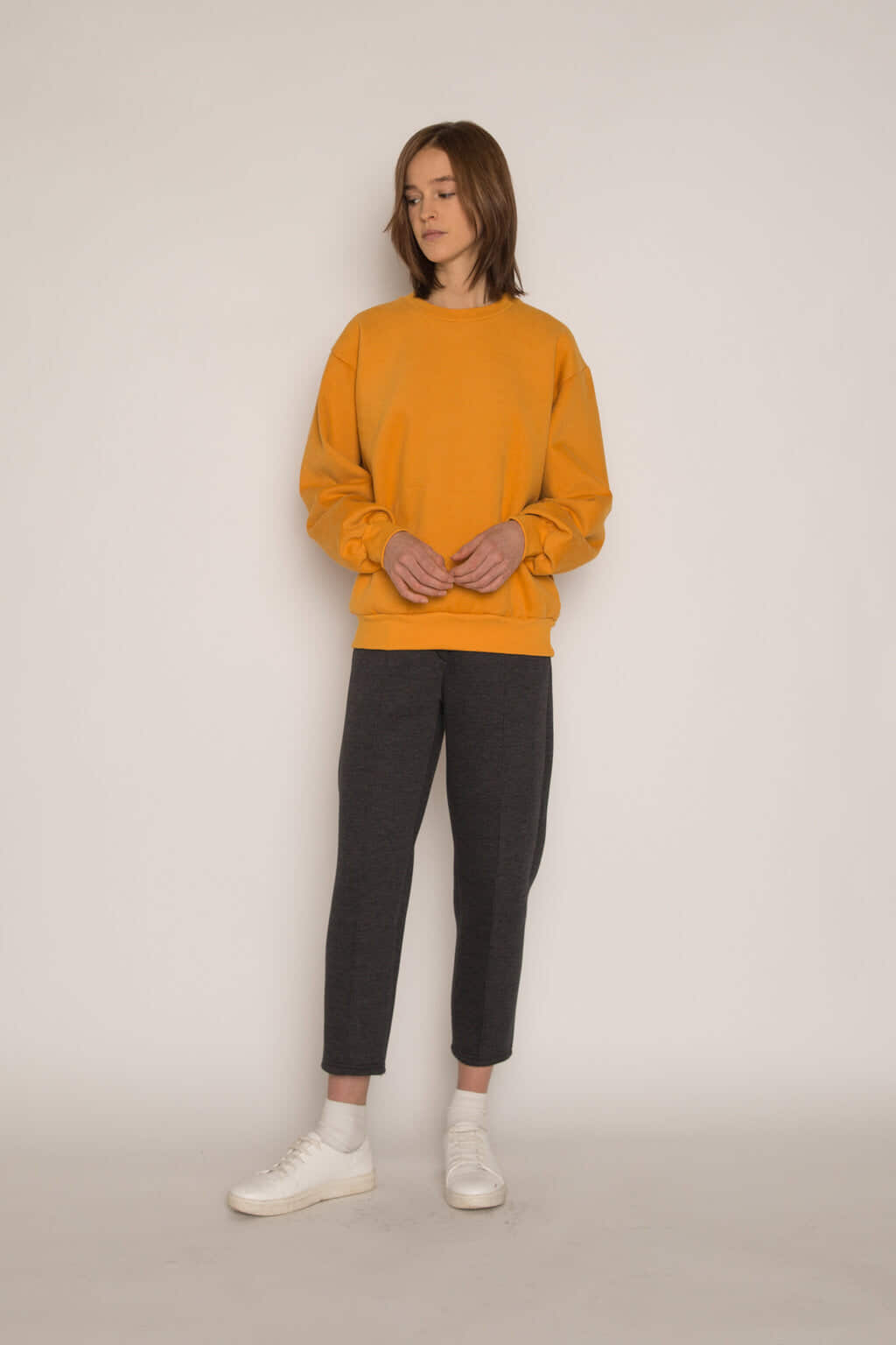 Sweatshirt H479 Mustard 7