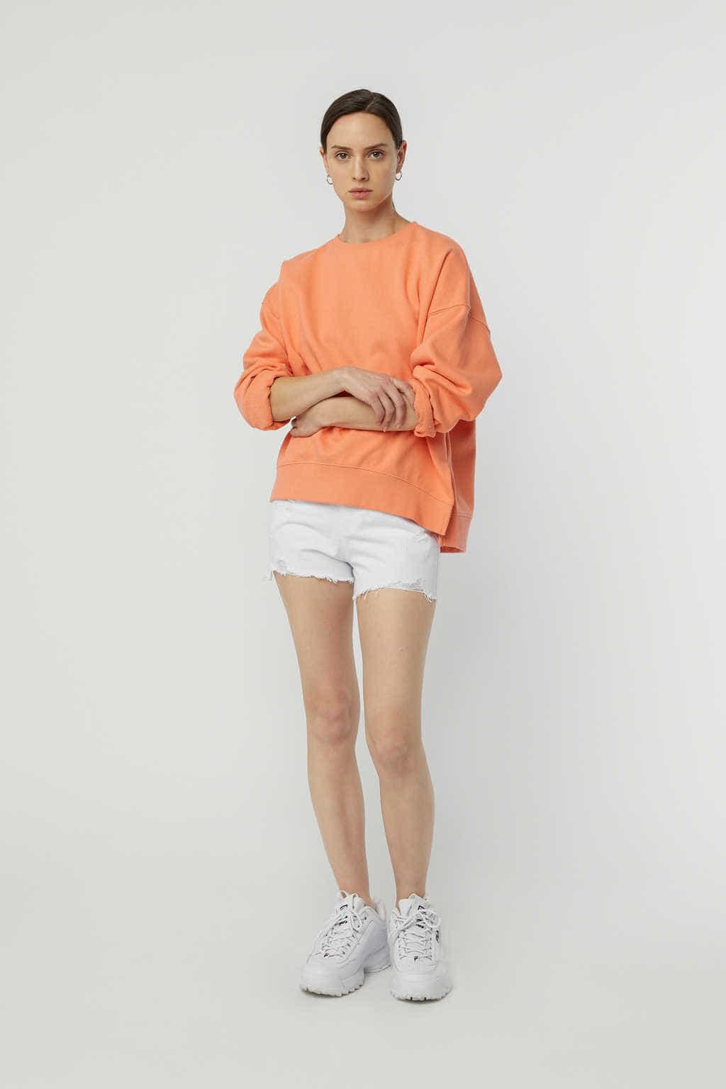 Sweatshirt K147 Orange 3