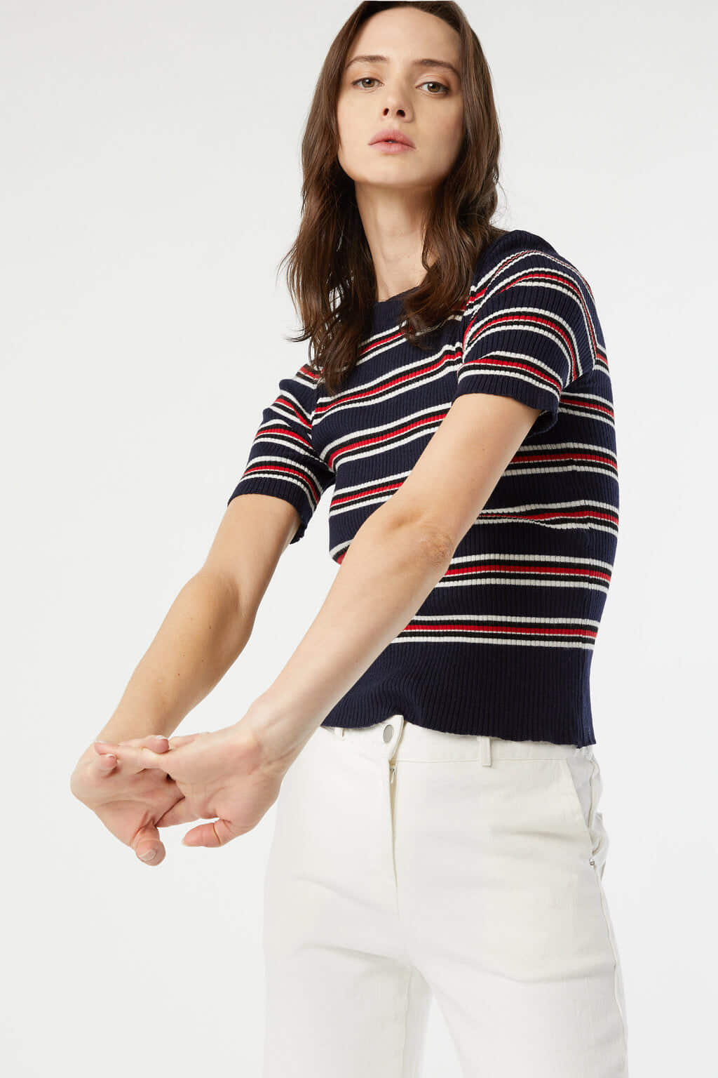 TShirt 3611 Red Blue Stripe 1