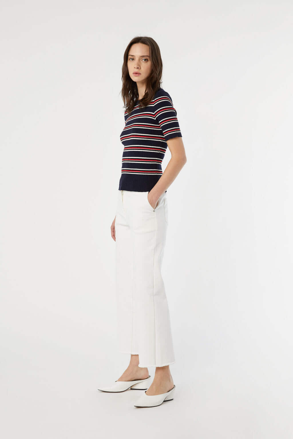 TShirt 3611 Red Blue Stripe 3