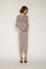 Dress 1673 Taupe 1