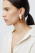 Earring K009 Brown 1