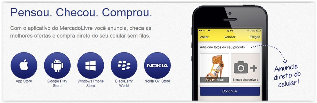 Aplicativo do Mercado Livre encerra suporte no Windows Phone