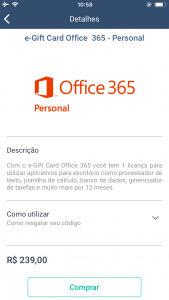 Digio Store: Como comprar um e-gift Card Office