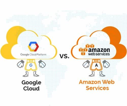 Amazon Web Services vs Google Cloud Computing