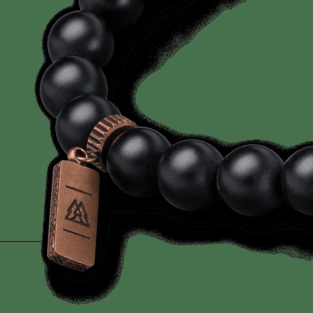 Whiskey Barrel Black Onyx Crown Bracelet 8mm