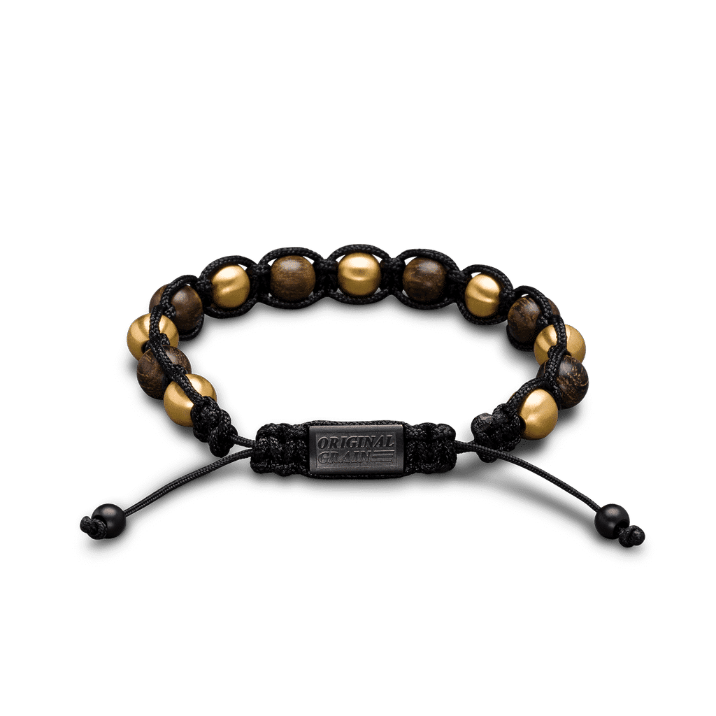 Ebony Gold Shambala Bracelet 8mm