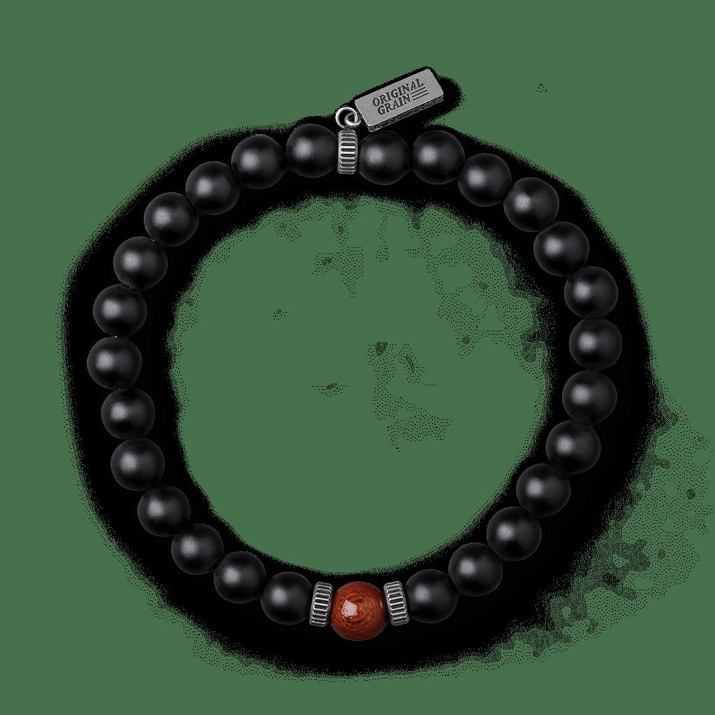Rosewood Black Onyx Crown Bracelet 8mm