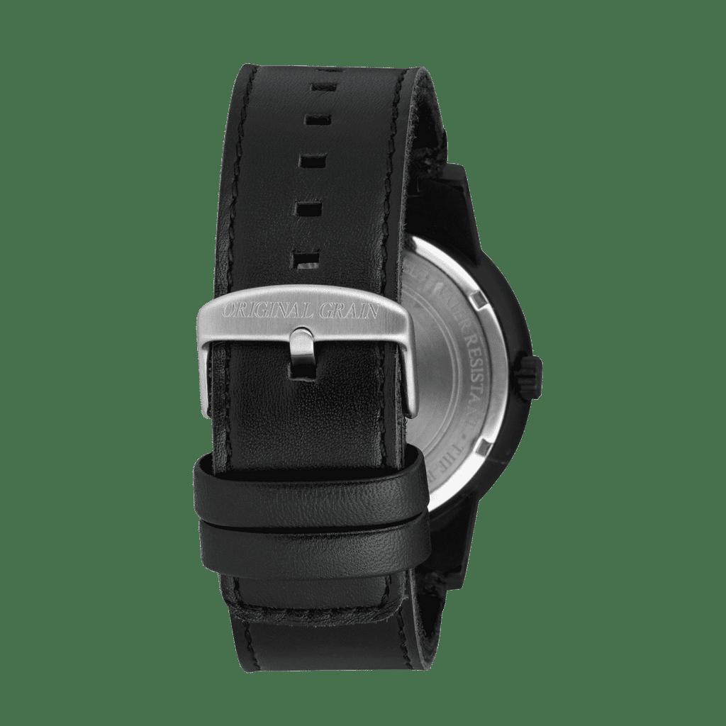 Sapele Black Leather Barrel 47mm