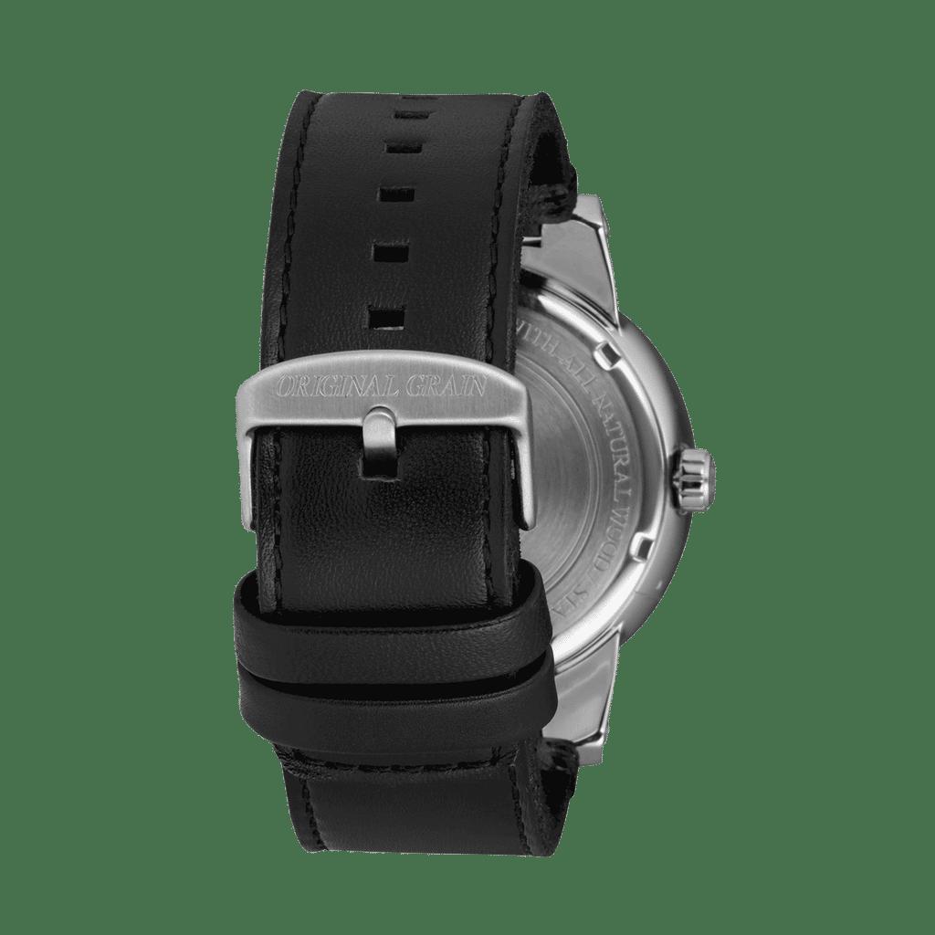 Rosewood Black Leather Barrel 47mm