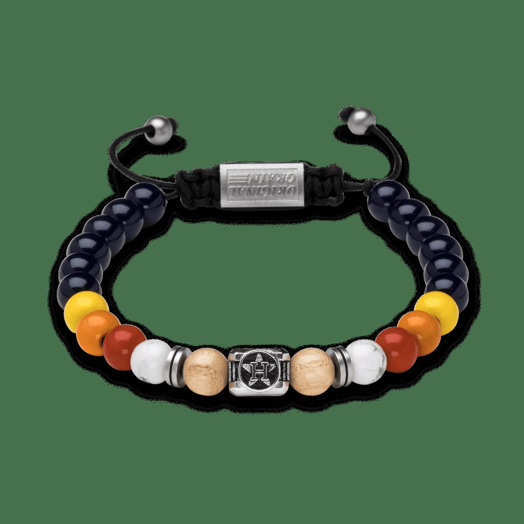 Houston Astros™ Square Macrame Bracelet 8mm