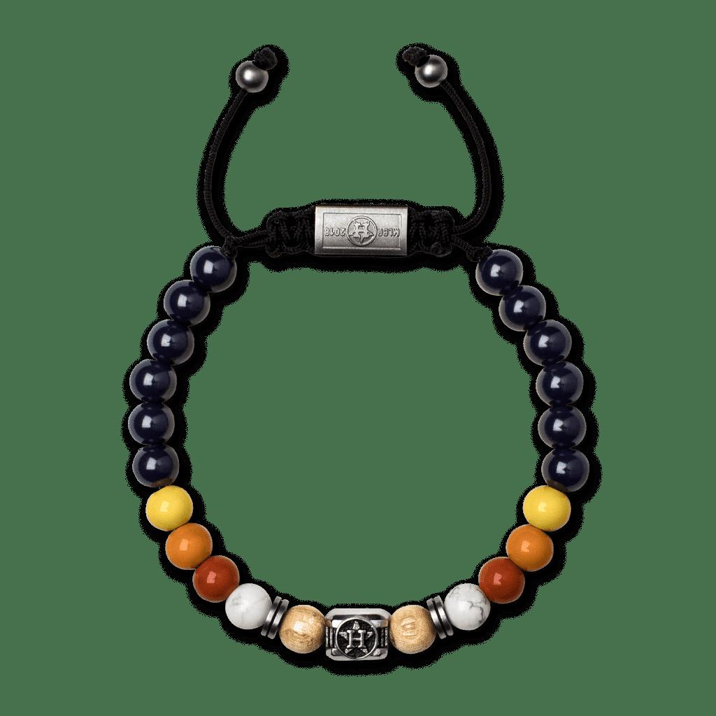 Houston Astros Square Macrame Bracelet 8mm
