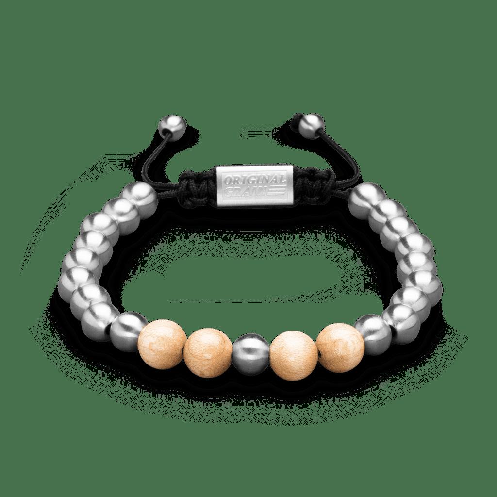 Court & Steel Macrame Bracelet 8mm