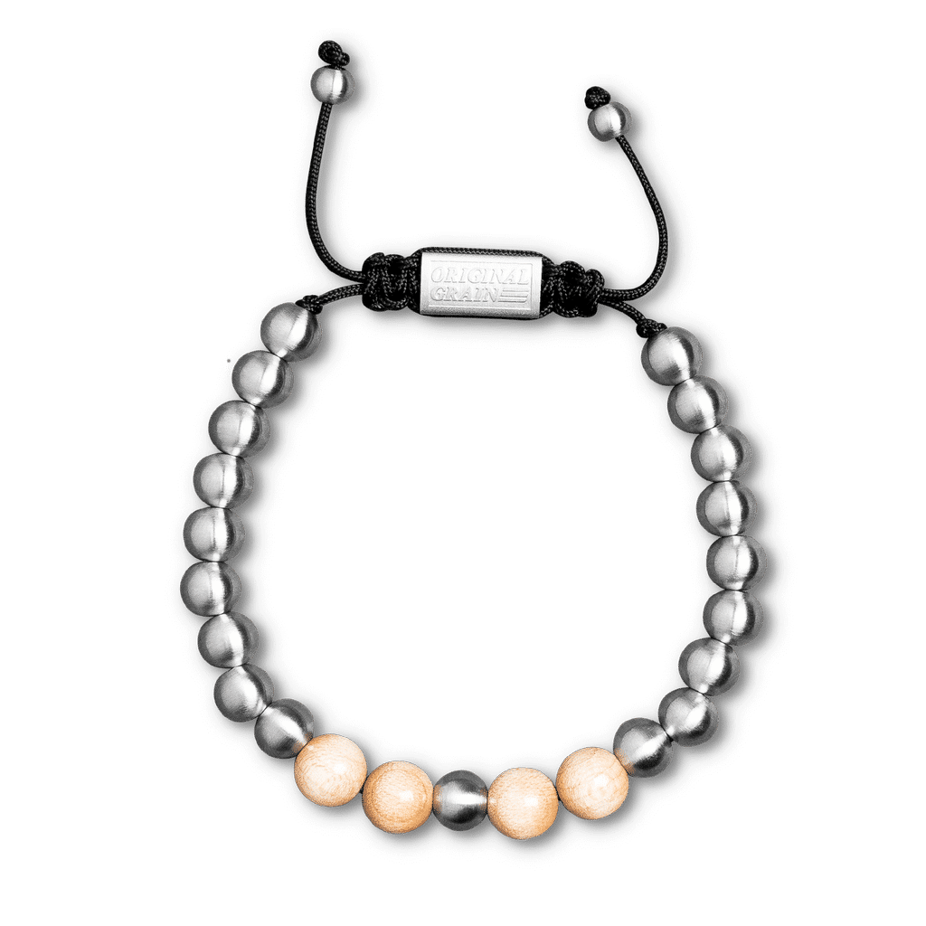 Court & Steel Macrame Bracelet 8mm
