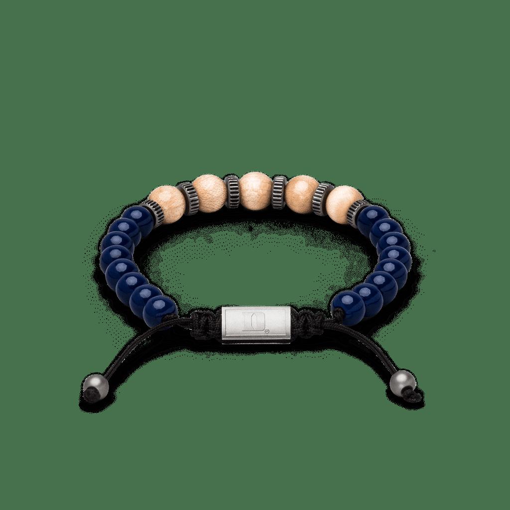 Duke University Championship Steel Macrame Bracelet 8mm