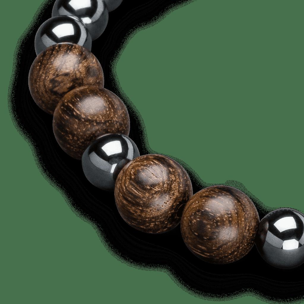 Ebony Hematite Macrame Bracelet 8mm