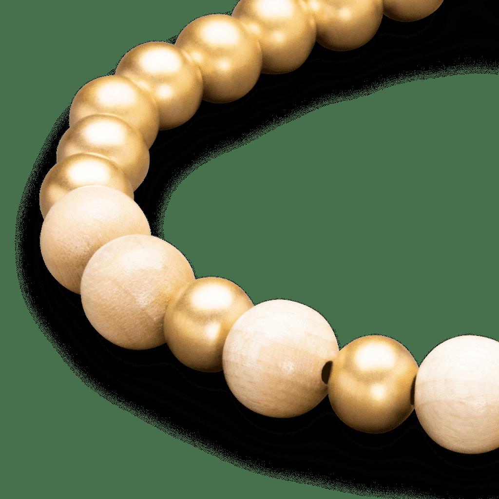 1849 Gold Rush Macrame Bracelet 8mm by Original Grain
