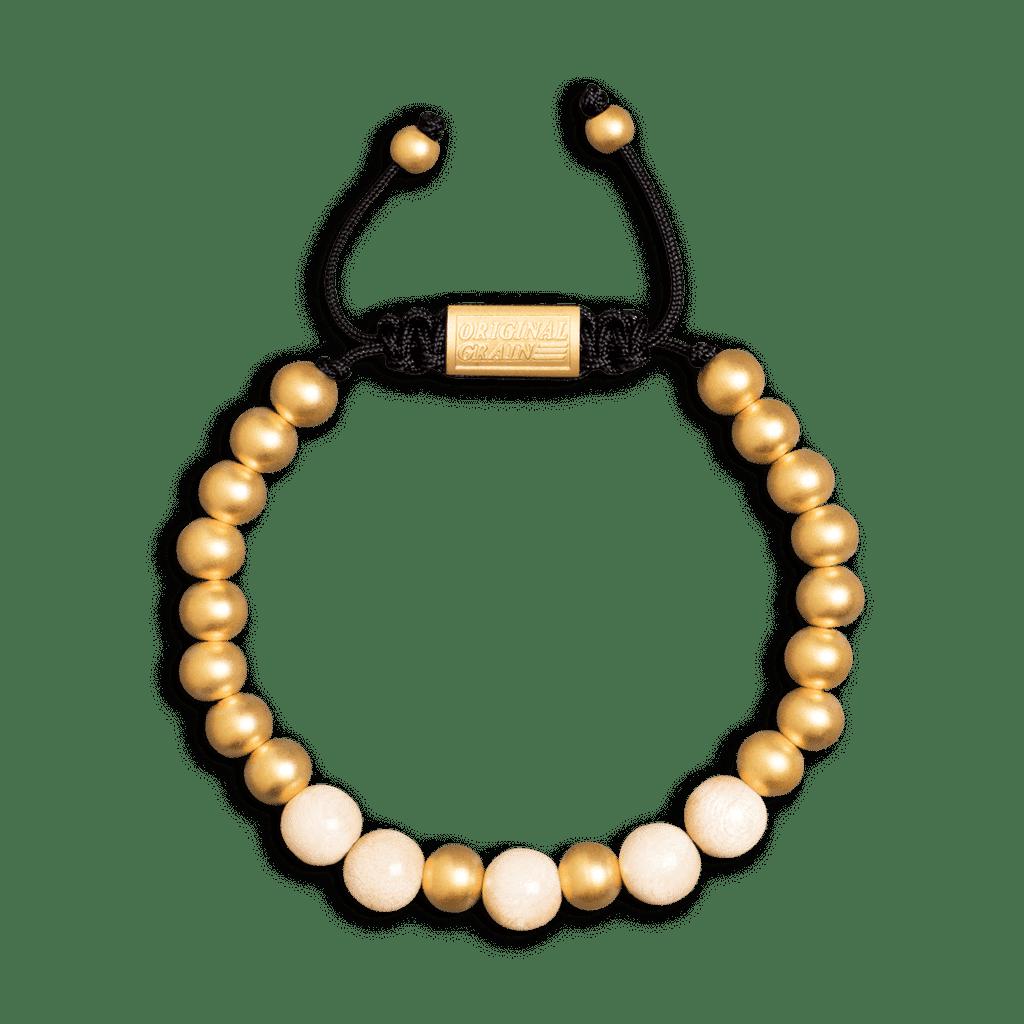 1849 Gold Rush Macrame Bracelet 8mm