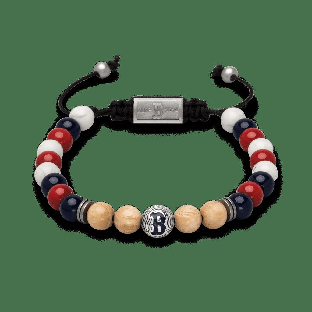 Boston Red Sox Round Macrame Bracelet 8mm by Original Grain
