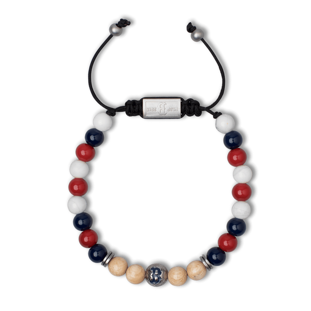 Boston Red Sox Round Macrame Bracelet 8mm