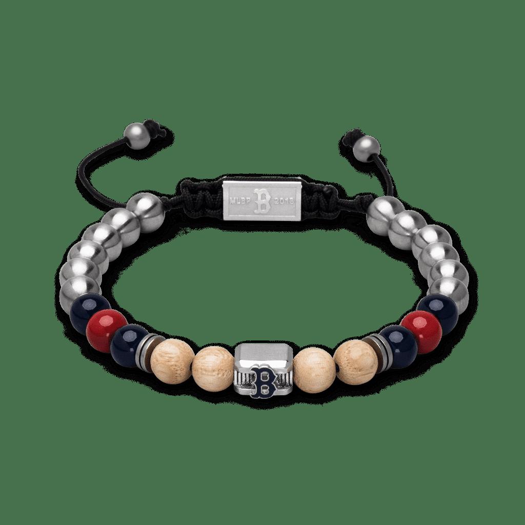 Boston Red Sox™ Square Macrame Bracelet 8mm
