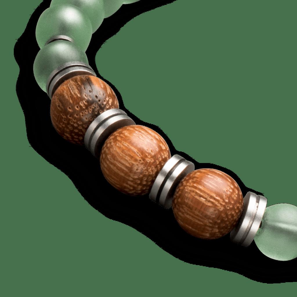 Aventurine Womens Macrame Bracelet 8mm