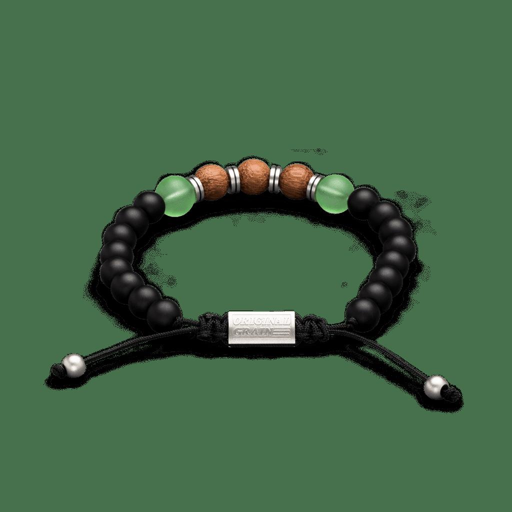Rockaway Beach Onyx Steel Macrame Bracelet 8mm