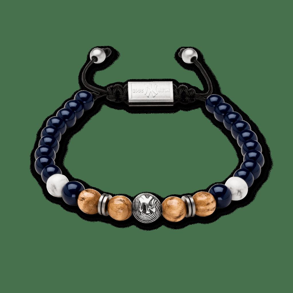 New York Yankees Steel Macrame Bracelet