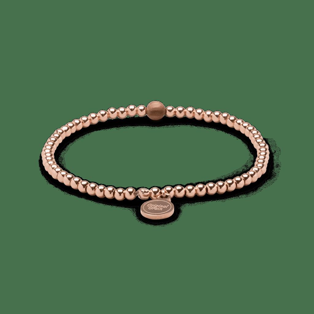 Zebrawood Rosegold Womens Charm Bracelet 3mm