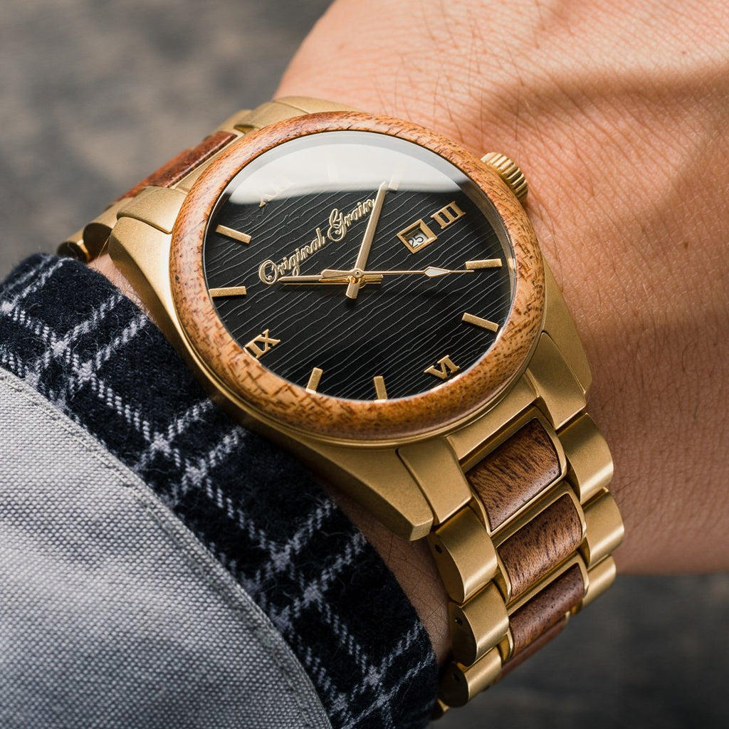Mahogany Gold Classic 43mm by Original Grain